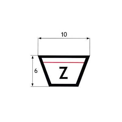 """CINGHIE SEZIONE """"Z"""" 10X6mm"""