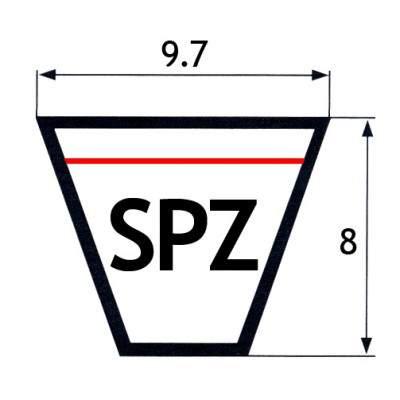"""CINGHIE SEZIONE """"SPZ"""" 9,7X8mm"""